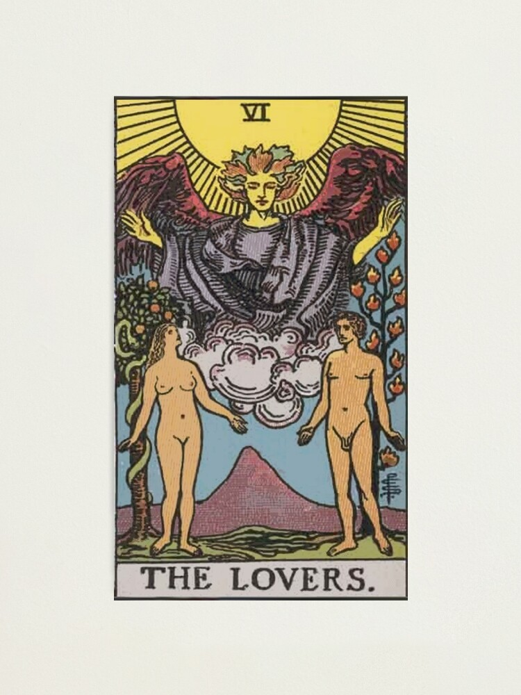 Alternate view of Tarot Card - The Lovers Photographic Print