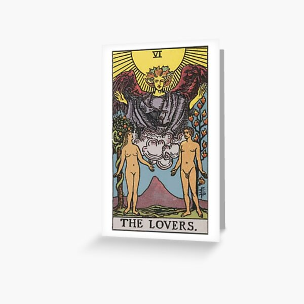 Tarot Card - The Lovers Greeting Card