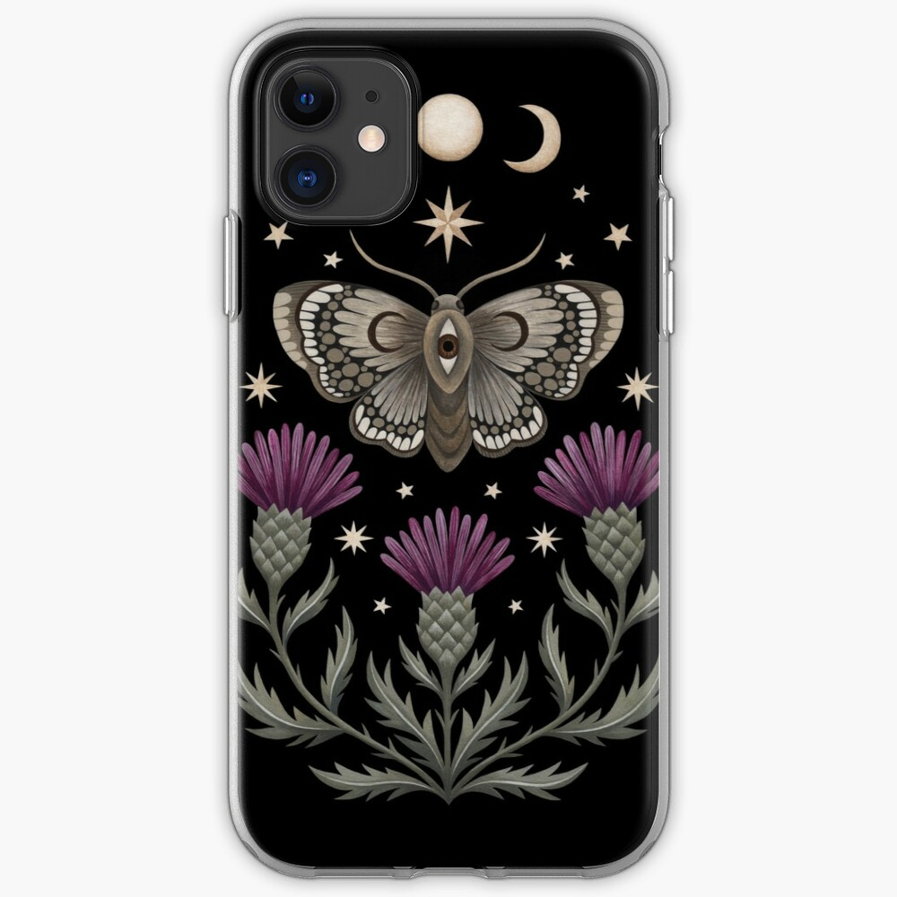 Thistle and moth iPhone Case & Cover