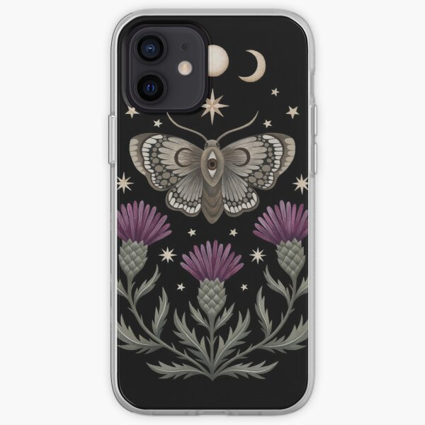 Thistle and moth iPhone Soft Case