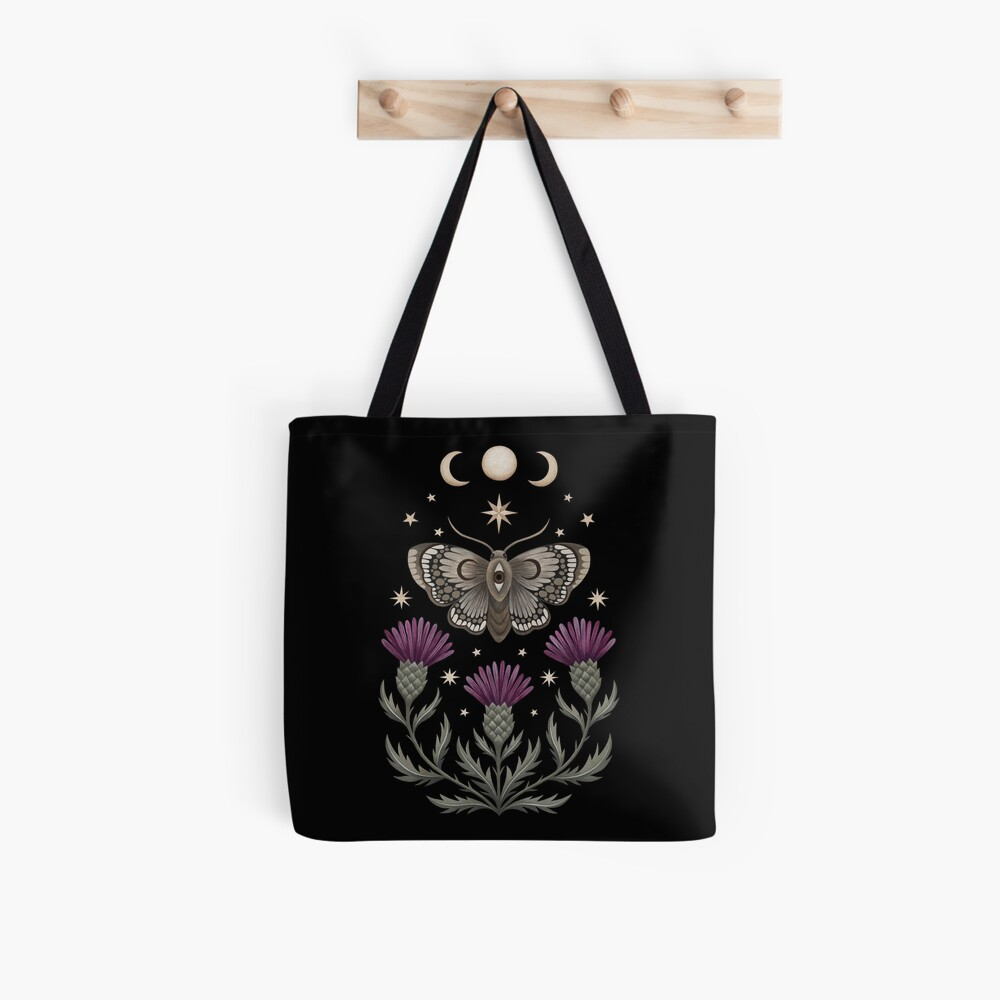 Thistle and moth Tote Bag