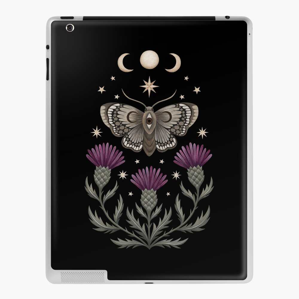 Thistle and moth iPad Case & Skin
