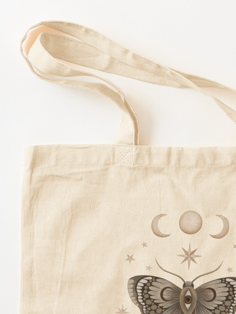 Alternate view of Thistle and moth Tote Bag