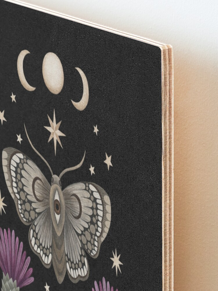 Alternate view of Thistle and moth Mounted Print
