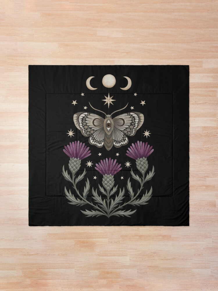 Alternate view of Thistle and moth Comforter