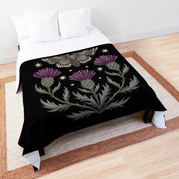 Thistle and moth Comforter