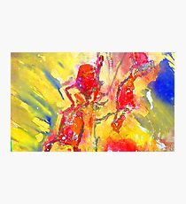 Abstract Snapdragon flower Screen Print Photographic Print
