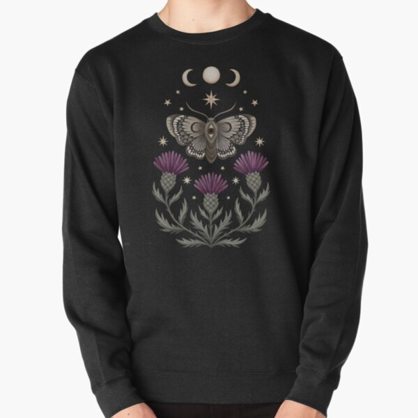 Thistle and moth Pullover Sweatshirt