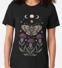 Thistle and moth Tri-blend T-Shirt