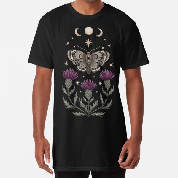 Thistle and moth Long T-Shirt