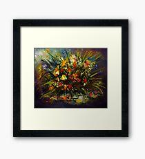 Color mosaic Framed Print