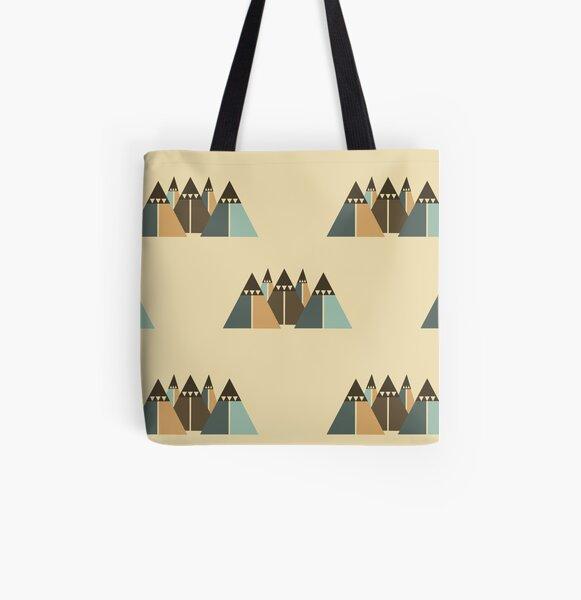 Bergwelt Allover-Print Tote Bag