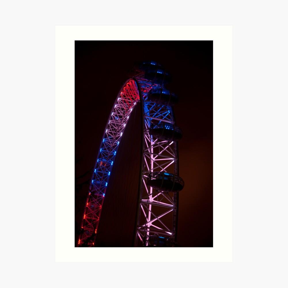 Red White & Blue - London Eye Art Print