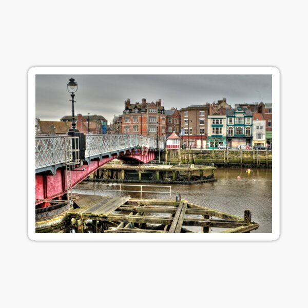 Whitby swing bridge Sticker