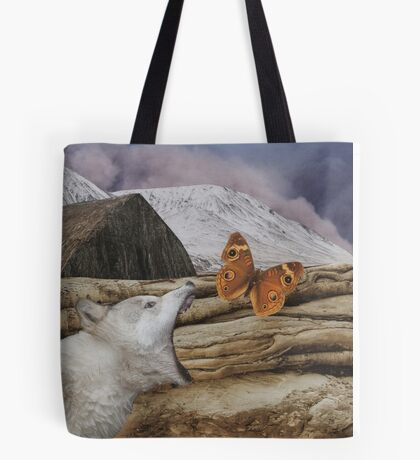 Under a blood red moon Tote Bag