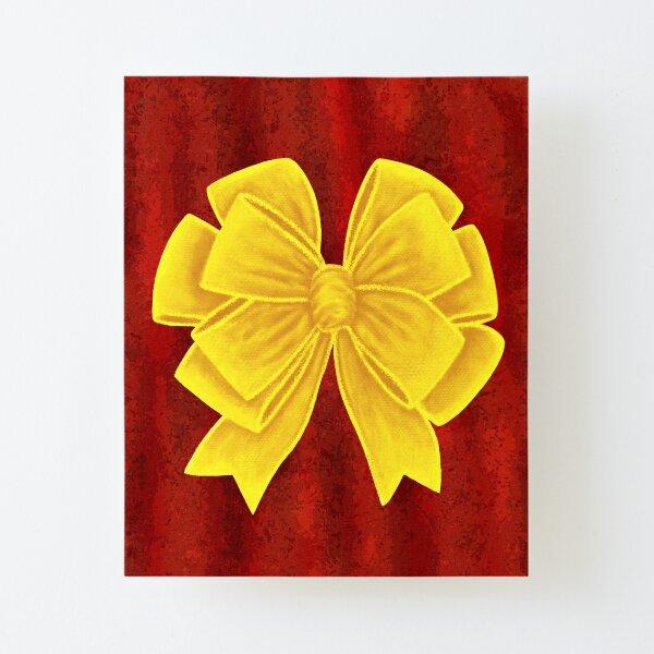 Arco amarillo dorado Lámina montada de lienzo