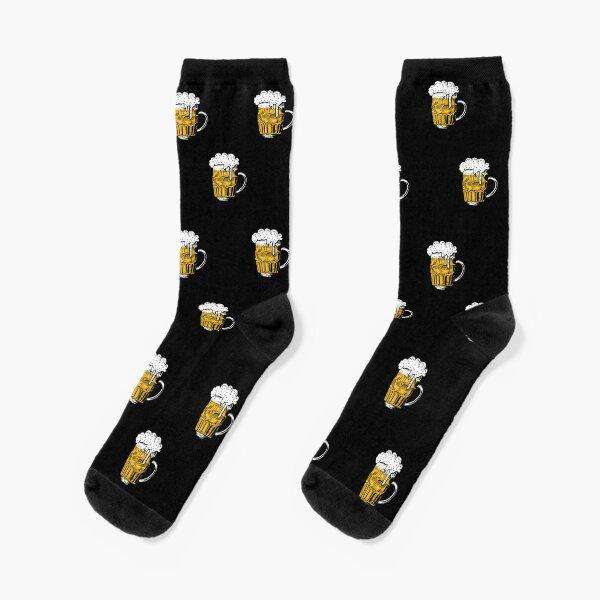 Food pattern,funny beer lover gift idea Socks
