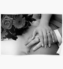 Wedding Hands Poster