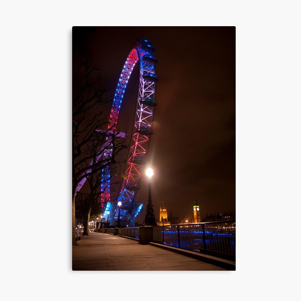 Red White Blue - London Eye & Big Ben Canvas Print