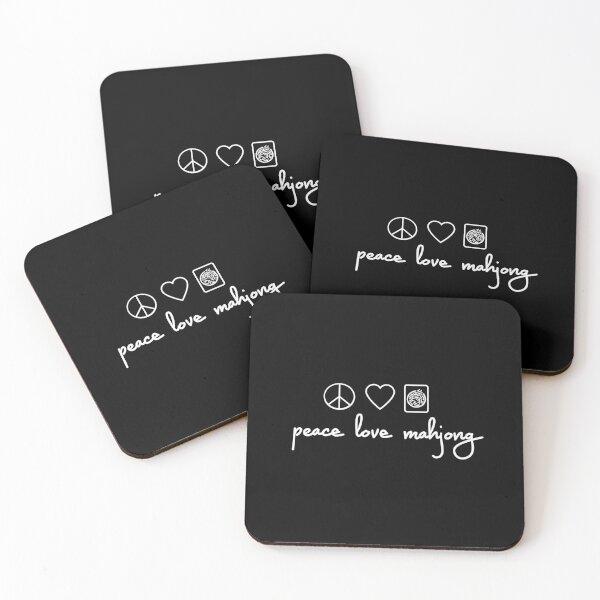 Peace Love Mahjong by Mahj Maven Coasters (Set of 4)