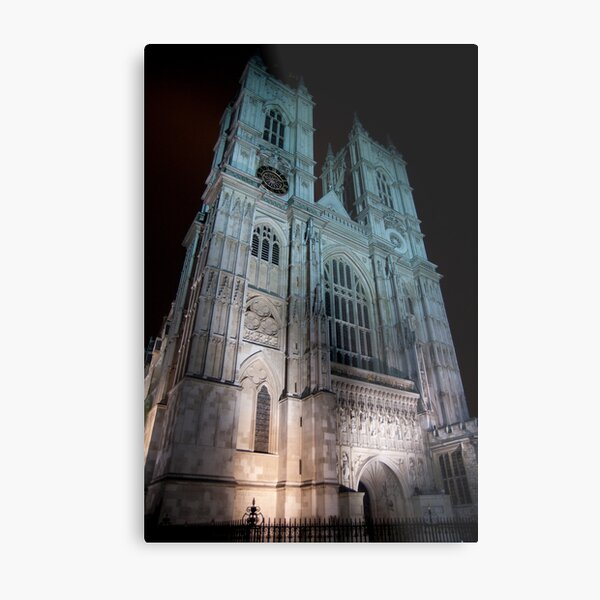 Westminster Abbey - by Night Metal Print