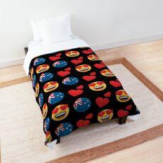 Love Australian Emoji JoyPixels Travel to Australia Comforter