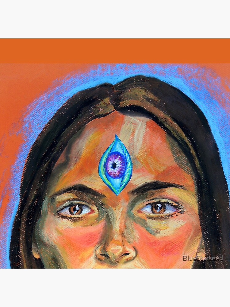 Blue Third Eye (self portrait) by BlueStarseed
