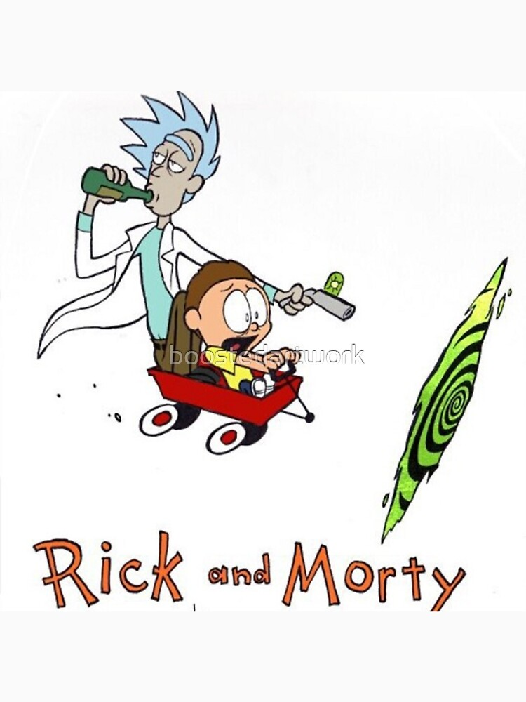 Rick and Morty Calvin and Hobbes | Unisex T-Shirt