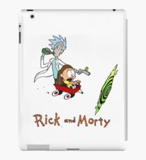 Rick and Morty Calvin and Hobbes iPad Case/Skin