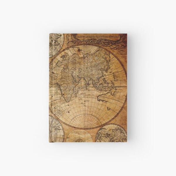 Old vintage world's map Hardcover Journal