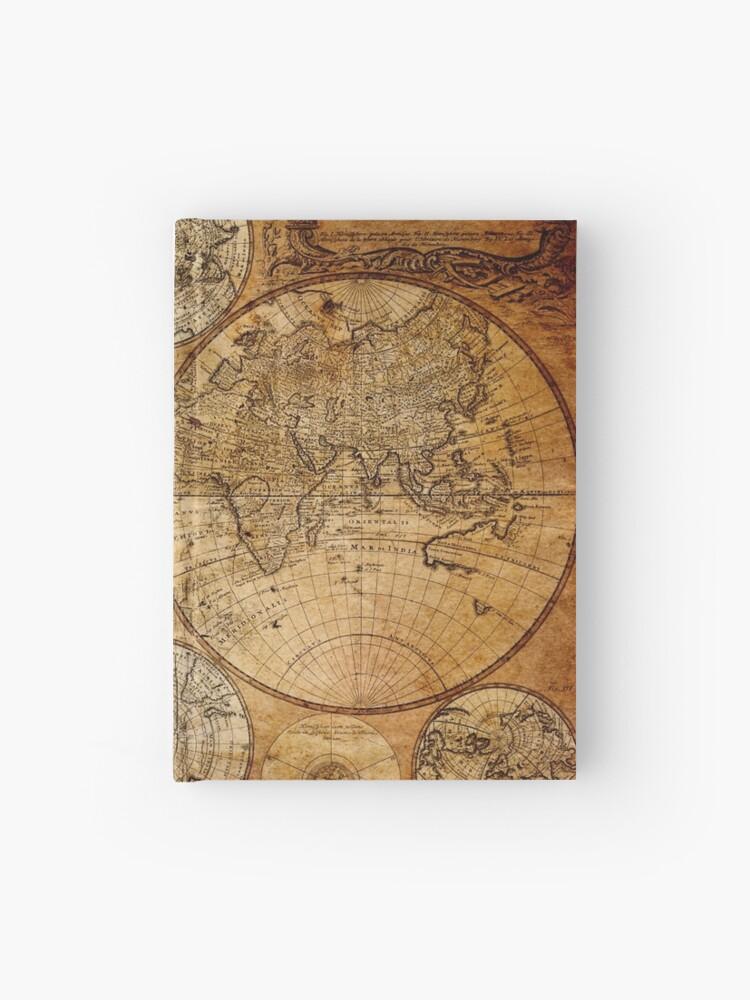 WORLD MAP 22 Grunge Vintage Framed Print Canvas Wall Art ~ More Size ~