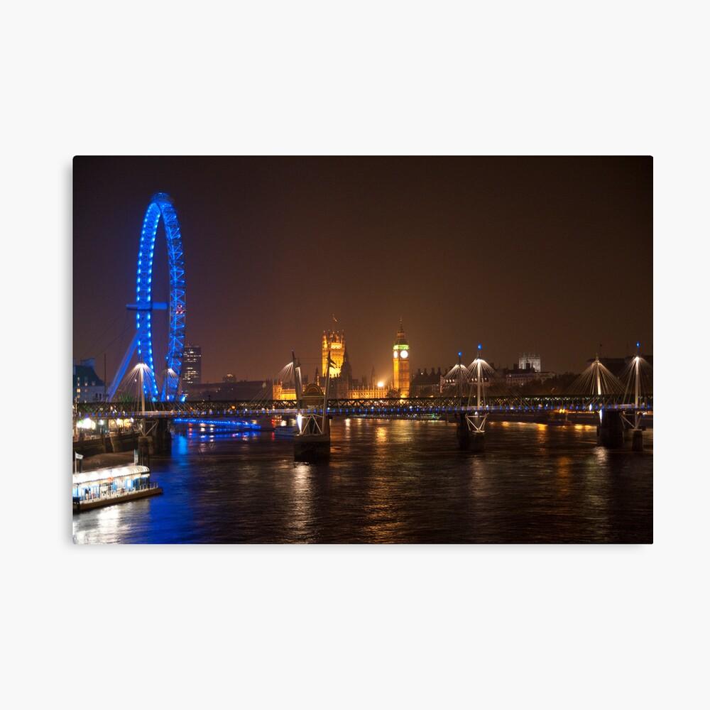 London Eye, Thames & Big Ben Canvas Print