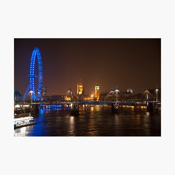 London Eye, Thames & Big Ben Photographic Print