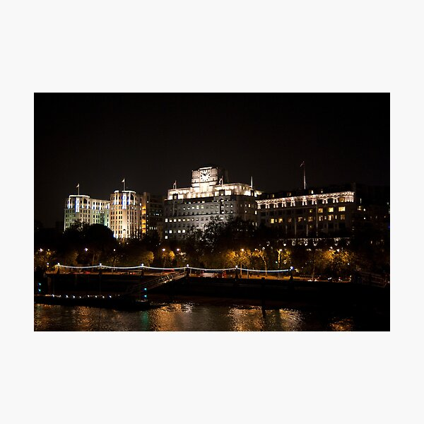 Shell Mex House London at Night Photographic Print