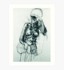 Ingrid Resting Arm on Chair Art Print