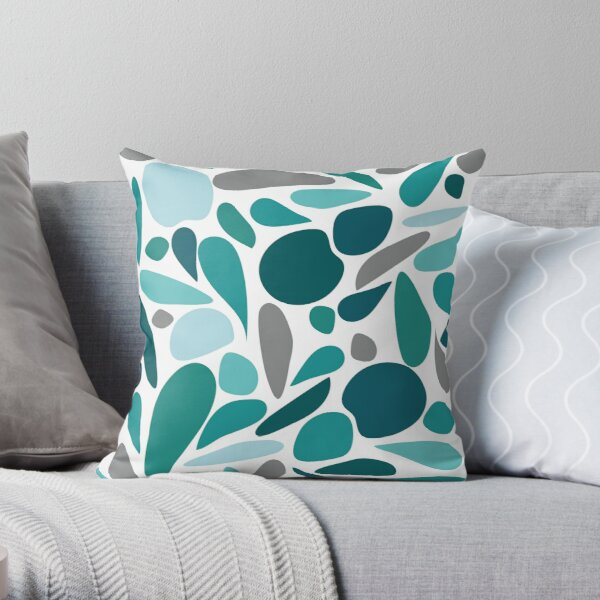 Blue Water Drop Coussin