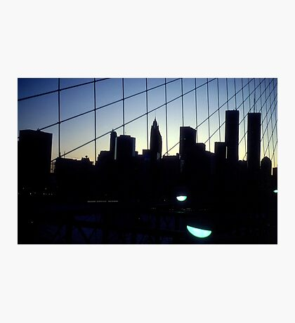 Brooklyn Bridge Skyline Photographic Print