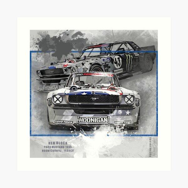 Tribute to Ken Block #2 Mustang 1400 Impression artistique