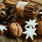 Christmas Attributes: Cinamon, Tree Cone, Cookies, Greek Nuts by M-a-k-s-y-m