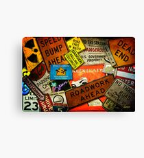 Signs Of The Times Canvas Print