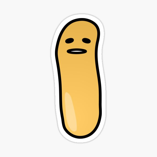 Francis The French Fry From France - Not Sure If Laughing... Sticker