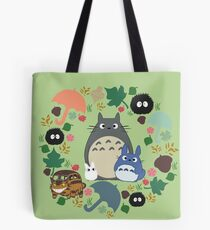 Green Totoro Wreath - My Neighbor Totoro Tote Bag