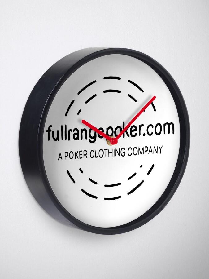 Alternate view of Full Range Poker logo Clock