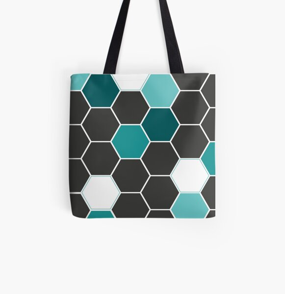 Bee Geometry  Tote bag doublé