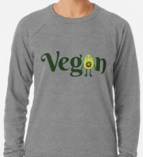 Vegan Avocado Emoji JoyPixels Healthy Avocado saying Lightweight Sweatshirt