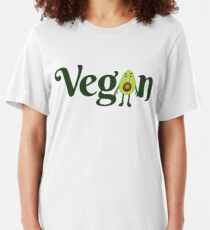 Vegan Avocado Emoji JoyPixels Healthy Avocado saying Slim Fit T-Shirt