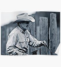 A Cowboy - Lillooet BC Canada Poster