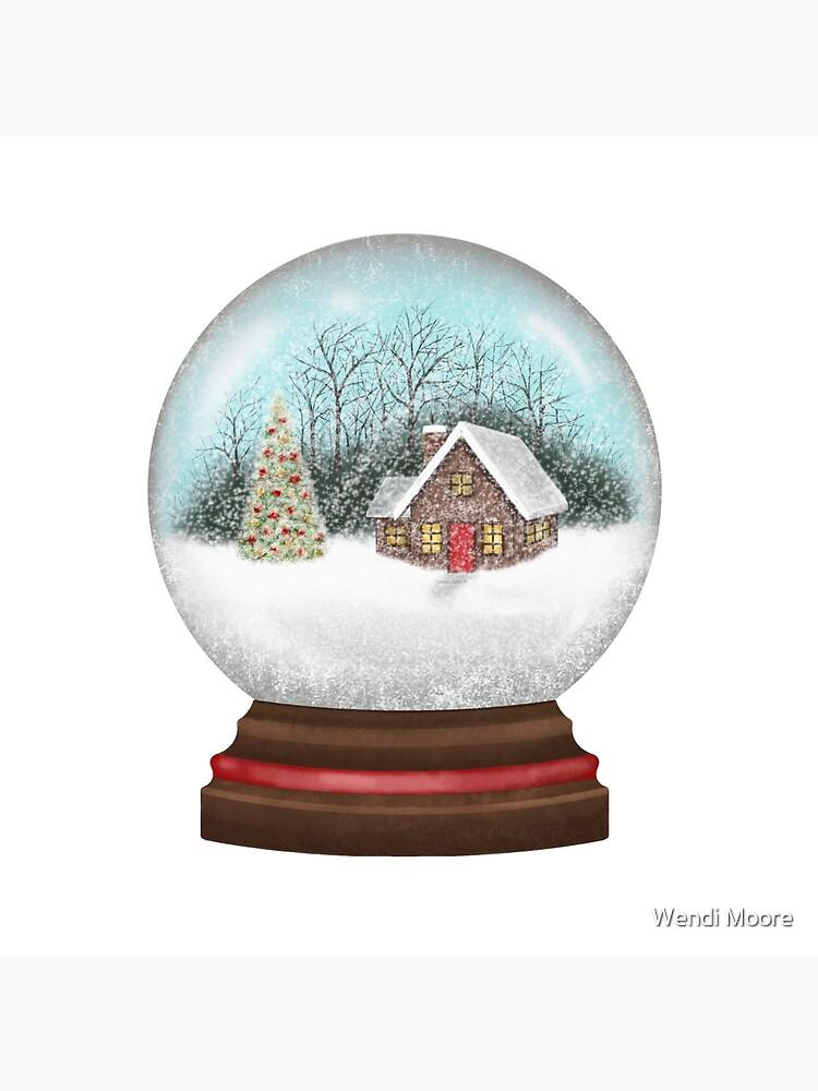 Cabaña en el bosque Snow Globe de wendimooreart
