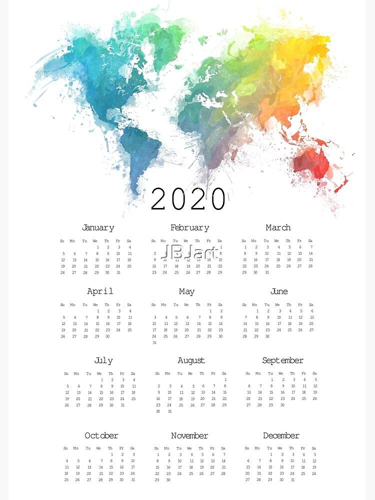 Calendar 2020 world map #calendar2020 by JBJart