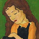 Girl with Cat by creationsbygena